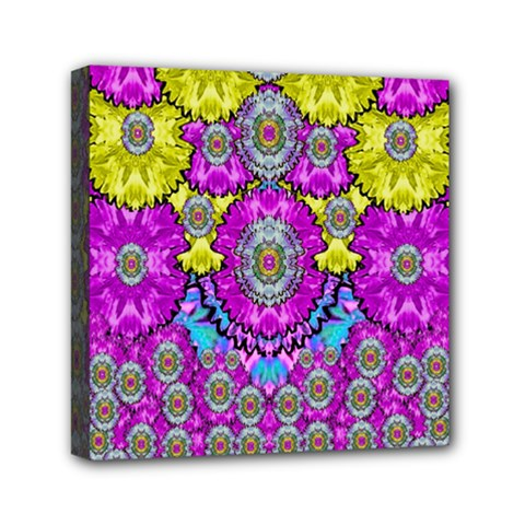 Fantasy Bloom In Spring Time Lively Colors Mini Canvas 6  X 6  by pepitasart
