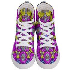 Fantasy Bloom In Spring Time Lively Colors Women s Hi Top Skate Sneakers