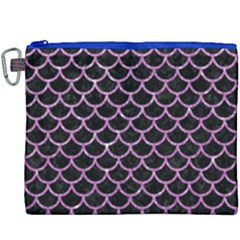 Scales1 Black Marble & Purple Glitter (r) Canvas Cosmetic Bag (xxxl) by trendistuff