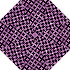 Houndstooth2 Black Marble & Purple Glitter Hook Handle Umbrellas (medium) by trendistuff