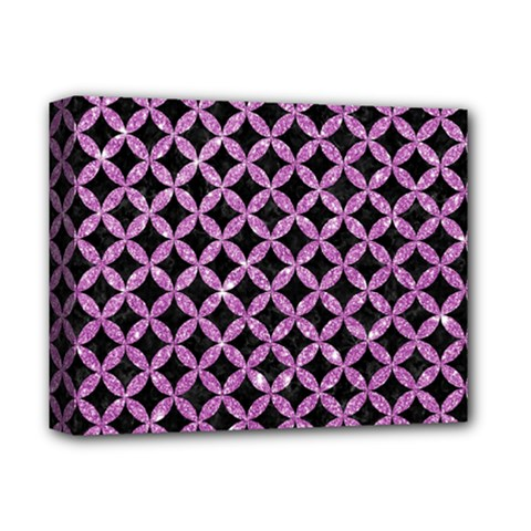 Circles3 Black Marble & Purple Glitter (r) Deluxe Canvas 14  X 11  by trendistuff