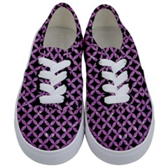 Circles3 Black Marble & Purple Glitter (r) Kids  Classic Low Top Sneakers