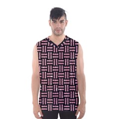 Woven1 Black Marble & Pink Glitter (r) Men s Basketball Tank Top by trendistuff