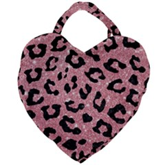 Skin5 Black Marble & Pink Glitter (r) Giant Heart Shaped Tote by trendistuff