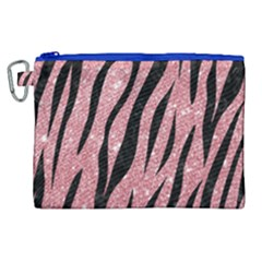 Skin3 Black Marble & Pink Glitter Canvas Cosmetic Bag (xl)