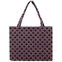 Scales2 Black Marble & Pink Glitter (r) Mini Tote Bag by trendistuff