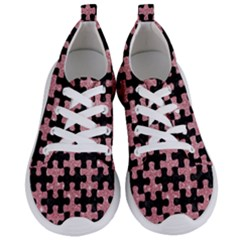 Puzzle1 Black Marble & Pink Glitter Women s Lightweight Sports Shoes
