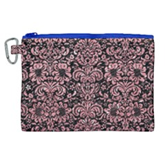 Damask2 Black Marble & Pink Glitter (r) Canvas Cosmetic Bag (xl)