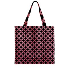 Circles3 Black Marble & Pink Glitter (r) Zipper Grocery Tote Bag by trendistuff
