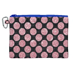 Circles2 Black Marble & Pink Glitter (r) Canvas Cosmetic Bag (xl)