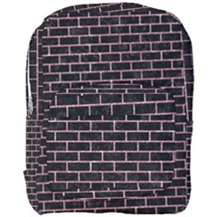 Brick1 Black Marble & Pink Glitter (r) Full Print Backpack by trendistuff