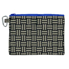 Woven1 Black Marble & Khaki Fabric (r) Canvas Cosmetic Bag (xl) by trendistuff