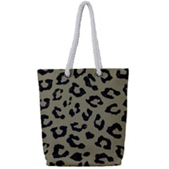 Skin5 Black Marble & Khaki Fabric (r) Full Print Rope Handle Tote (small) by trendistuff
