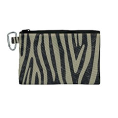 Skin4 Black Marble & Khaki Fabric Canvas Cosmetic Bag (medium) by trendistuff