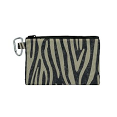 Skin4 Black Marble & Khaki Fabric Canvas Cosmetic Bag (small) by trendistuff