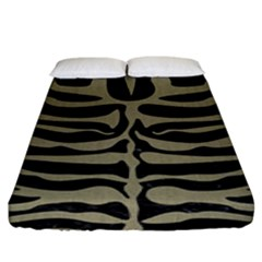 Skin2 Black Marble & Khaki Fabric (r) Fitted Sheet (king Size) by trendistuff