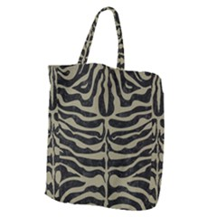 Skin2 Black Marble & Khaki Fabric (r) Giant Grocery Zipper Tote by trendistuff