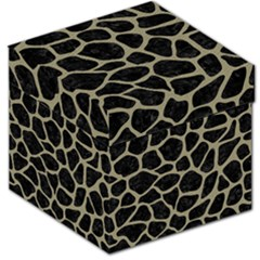Skin1 Black Marble & Khaki Fabric Storage Stool 12