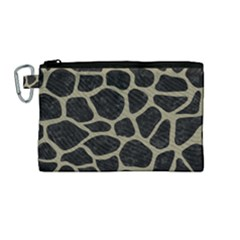 Skin1 Black Marble & Khaki Fabric Canvas Cosmetic Bag (medium) by trendistuff
