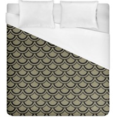 Scales2 Black Marble & Khaki Fabric Duvet Cover (king Size) by trendistuff