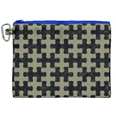 Puzzle1 Black Marble & Khaki Fabric Canvas Cosmetic Bag (xxl) by trendistuff