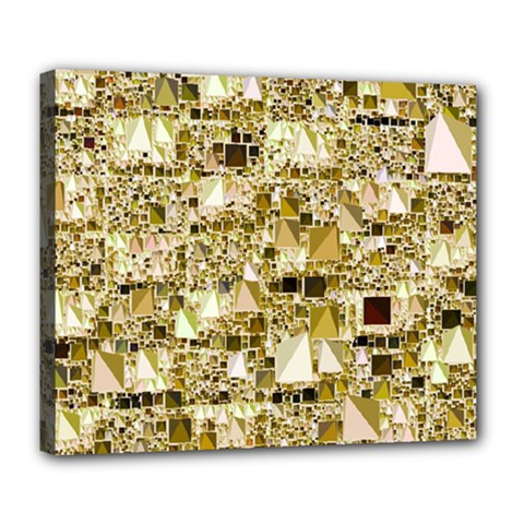 Modern Geo Fun,golden Deluxe Canvas 24  X 20   by MoreColorsinLife