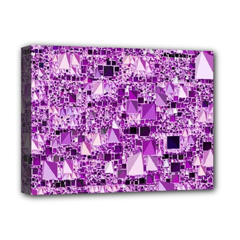 Modern Geo Fun,lilac Deluxe Canvas 16  X 12   by MoreColorsinLife