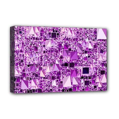Modern Geo Fun,lilac Deluxe Canvas 18  X 12   by MoreColorsinLife