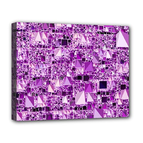Modern Geo Fun,lilac Deluxe Canvas 20  X 16   by MoreColorsinLife