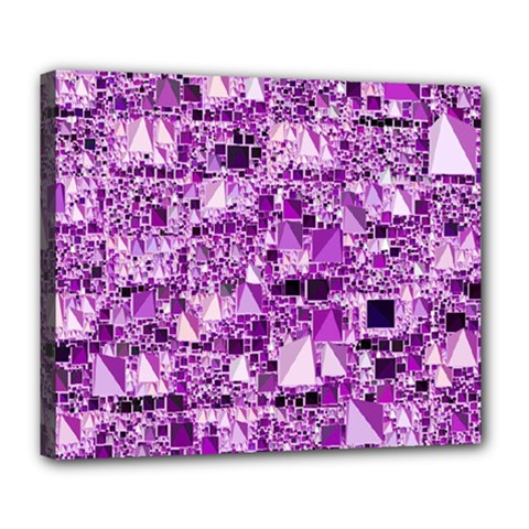 Modern Geo Fun,lilac Deluxe Canvas 24  X 20   by MoreColorsinLife