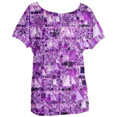Modern Geo Fun,lilac Women s Oversized Tee by MoreColorsinLife
