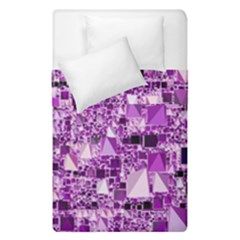Modern Geo Fun,lilac Duvet Cover Double Side (single Size) by MoreColorsinLife