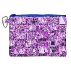 Modern Geo Fun,lilac Canvas Cosmetic Bag (xl) by MoreColorsinLife