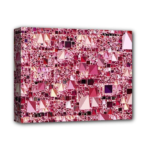 Modern Geo Fun,pink Deluxe Canvas 14  X 11  by MoreColorsinLife