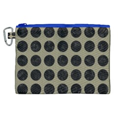 Circles1 Black Marble & Khaki Fabric Canvas Cosmetic Bag (xl) by trendistuff