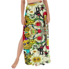 Chicken Monkeys Smile In The Floral Nature Looking Hot Maxi Chiffon Tie Up Sarong