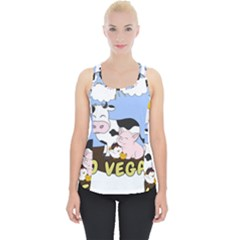 Friends Not Food   Cute Pig And Chicken Piece Up Tank Top