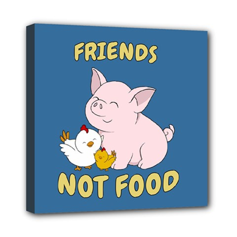 Friends Not Food   Cute Pig And Chicken Multi Function Bag	 by Valentinaart