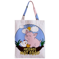 Friends Not Food   Cute Pig And Chicken Classic Tote Bag by Valentinaart
