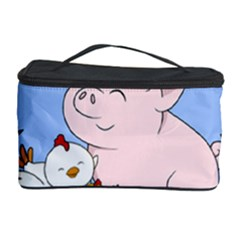 Friends Not Food   Cute Pig And Chicken Cosmetic Storage Case by Valentinaart