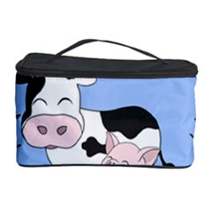 Friends Not Food - Cute Cow, Pig And Chicken Cosmetic Storage Case by Valentinaart