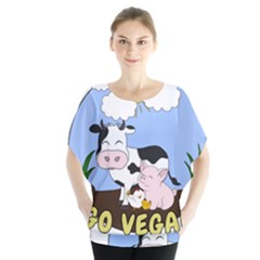Friends Not Food   Cute Cow, Pig And Chicken Blouse by Valentinaart