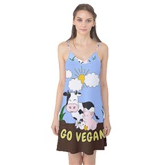 Friends Not Food   Cute Cow, Pig And Chicken Camis Nightgown by Valentinaart