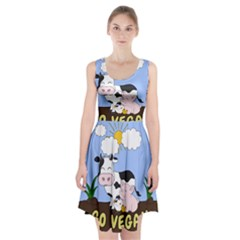 Friends Not Food - Cute Cow, Pig And Chicken Racerback Midi Dress by Valentinaart