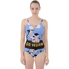Friends Not Food   Cute Cow, Pig And Chicken Cut Out Top Tankini Set
