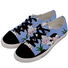 Friends Not Food   Cute Cow, Pig And Chicken Men s Low Top Canvas Sneakers by Valentinaart