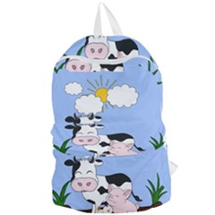 Friends Not Food   Cute Cow, Pig And Chicken Foldable Lightweight Backpack by Valentinaart