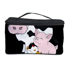 Friends Not Food   Cute Cow, Pig And Chicken Cosmetic Storage Case by Valentinaart