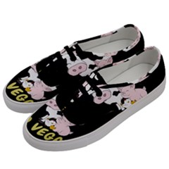 Friends Not Food   Cute Cow, Pig And Chicken Men s Classic Low Top Sneakers by Valentinaart