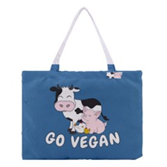 Friends Not Food   Cute Cow, Pig And Chicken Medium Tote Bag